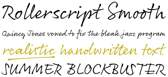 Beautiful Handwriting Fonts Lettering Invitations