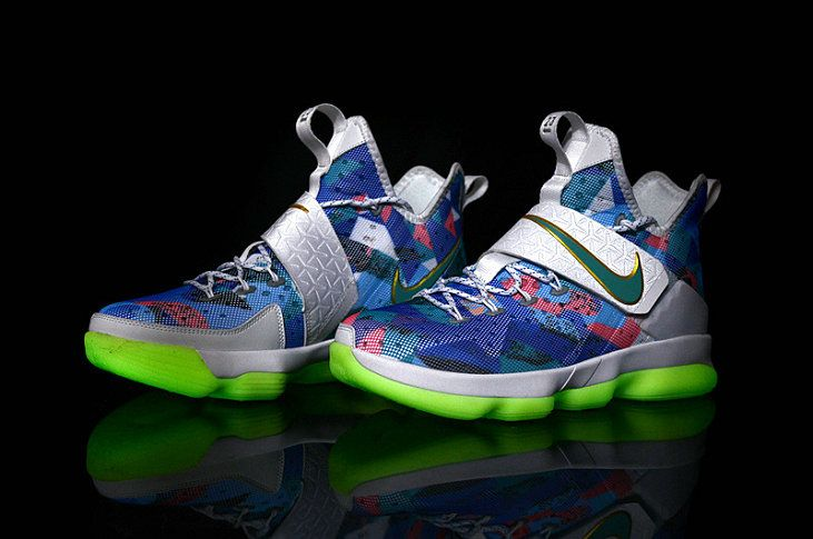 new product 4c8f8 a772a Youth LeBron 14 XIV Rio Floral Big Boys Basketball Shoes ...