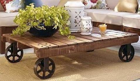 Récup' d'une palette pour fabriquer une table basse originale http://www.homelisty.com/meuble-en-palette/