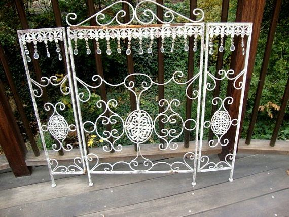Vintage Victorian Style Wrought Iron Fireplace by AnnasDream, $295.00
