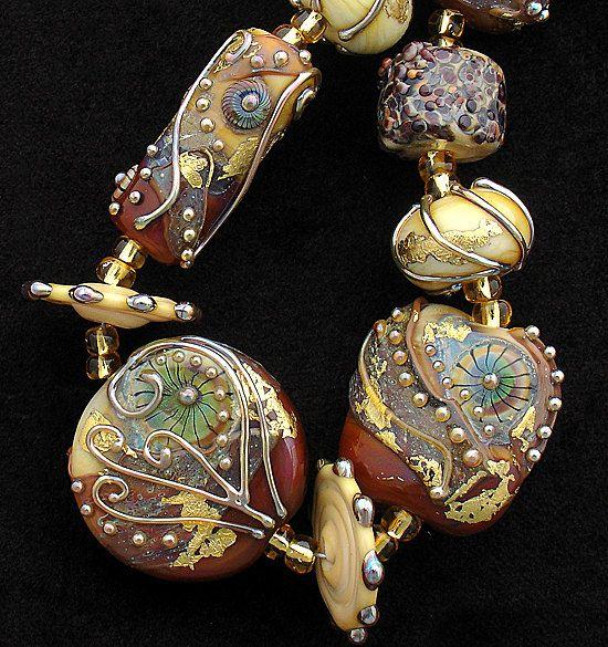 DSG Beads Handmade Organic Lampwork Glass-