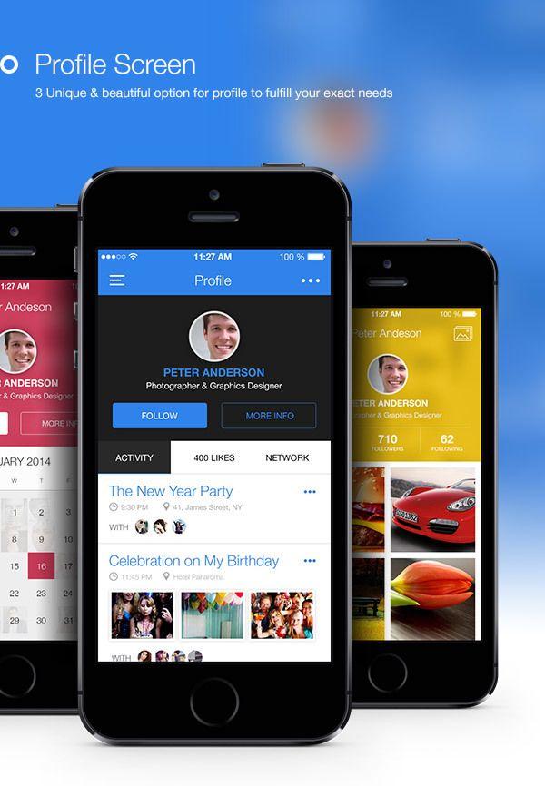 Genius #Flat & Modern #Mobile #Ui - Made with Love  by Bouncy Studio, via Behance