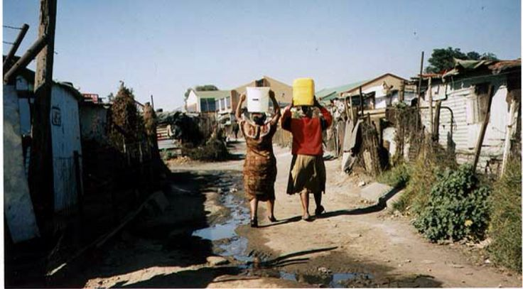 Soweto (South West Township) is a very large shanty settlement on the outskirts of Johannesburg, South Africa.