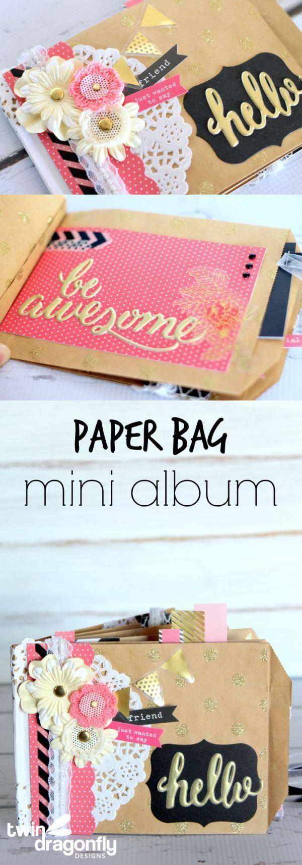 Scrapbook paper books - Paper Bag Mini Album