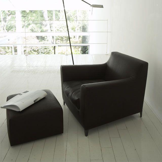 Fauteuil rive droite didier gomez cinna mobilier contemporain living - Canape ligne roset nomade ...