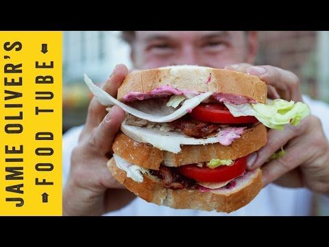 DJ BBQ's Turkey Super Club Sandwich - YouTube  I have to say, this looks good, even the mayo, and I hate mayo!