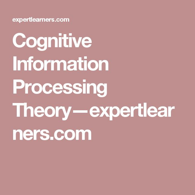 Cognitive Information Processing Theory—expertlearners.com