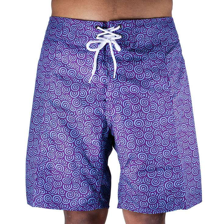 Trunks Men's Salty Board Shorts – Lotus Swirls