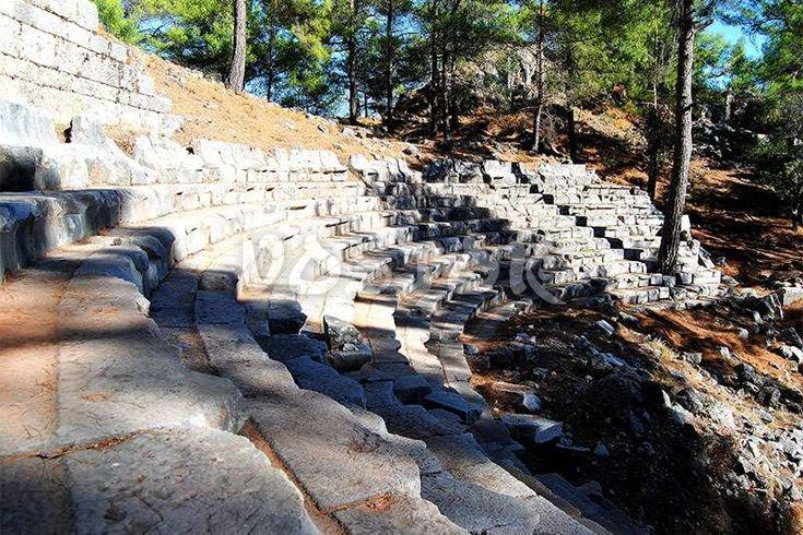 Roman theater in ancient Lycian city of Cadianda in Turkey http://www.traveltofethiye.co.uk/explore/attractions/uzumlu-village-cadianda-turkey/
