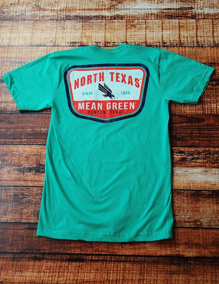 Do you bleed green? Well, show your love on Game Day in this awesome Mean Green UNT short-sleeve t-shirt! Go University of North Texas!