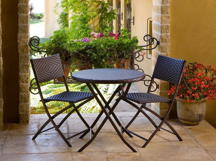 Marvelous Patio Bistro Table And Chairs Sets Outdoor Weatherproof Backyard Modern Deck