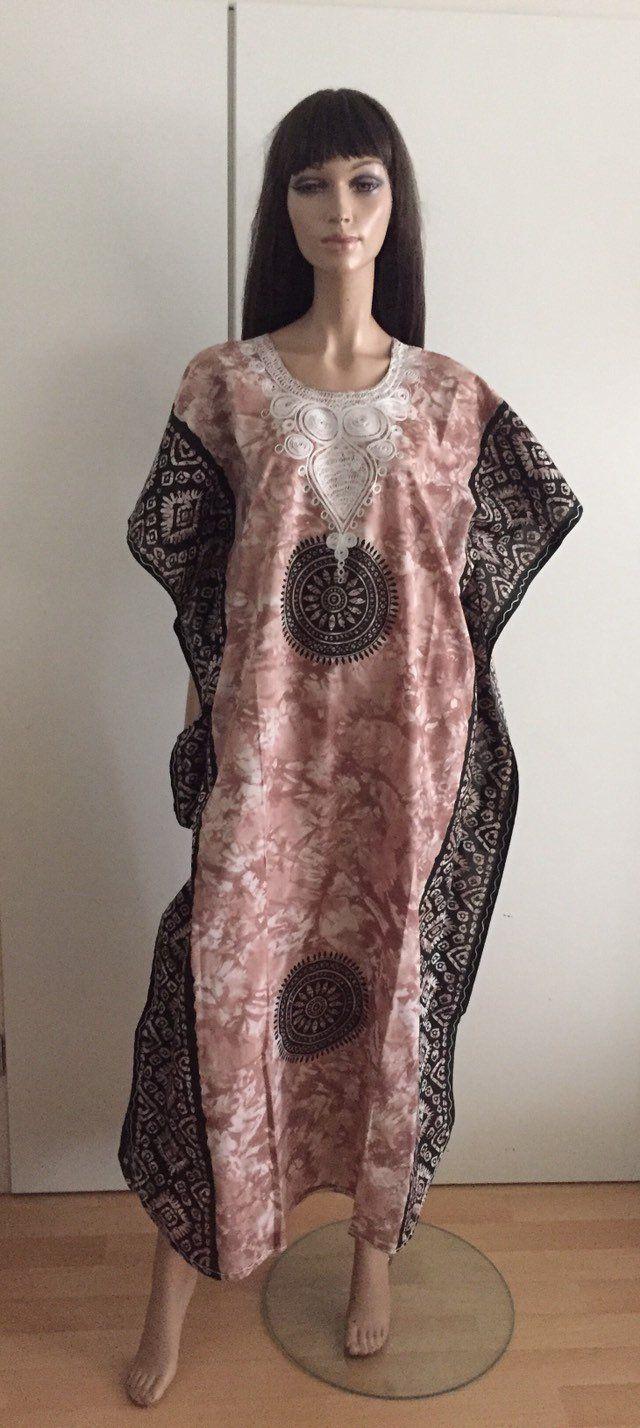 Neuf fait /à la main pour femme Caftan Resort Porter Cover-Up Mode Jaune En Coton pour femme