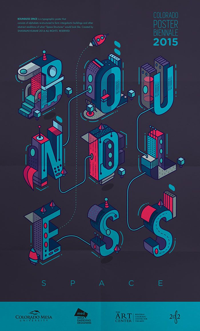 Boundless Space Typography Poster