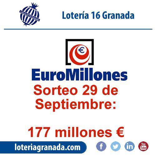 El bote de euromillón sigue creciendo y va por 177 para esta noche!! Corre a  ➡http://qoo.ly/i53q6⬅ y compra tu boleto!! 💰 🏃
