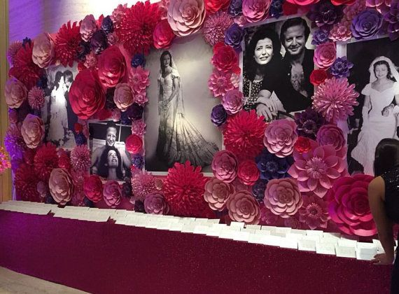 Large Paper Flower Wall Backdrop Photo Booth Photo Shoot Wedding Ideas Baby Shower Bridal Shower Giant Flowers Paper Flowers
