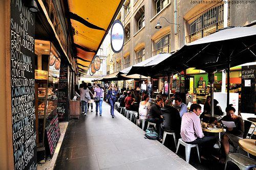 Melbourne laneway dining