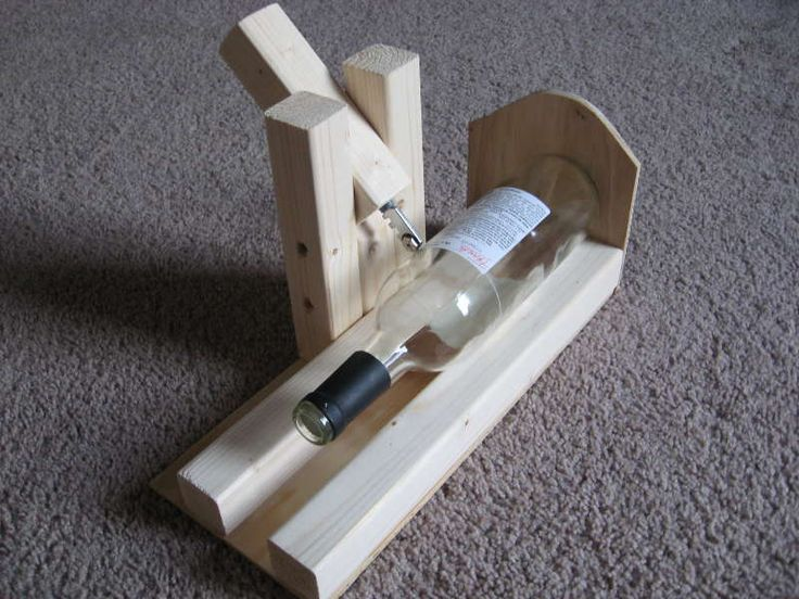 Wine bottle glass holder plans woodworking projects plans - Wine bottle balancer plans ...