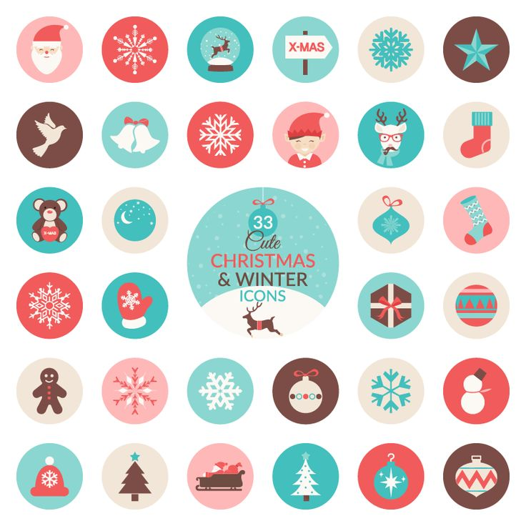 Free Christmas & Winter Icon Set (AI, EPS, SVG & PNG) (3 MB) | speckyboy.com | #free #vector