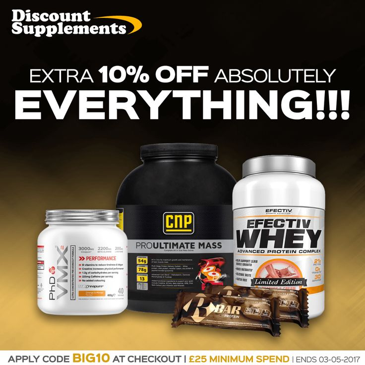 Extra 10% OFF code today: BIG10 Best value protein, bars & supplement deals online! www.discount-supplements.co.uk #proteinbars #protein #diet #whey #gym #bodybuilding #fit #fatloss #sport
