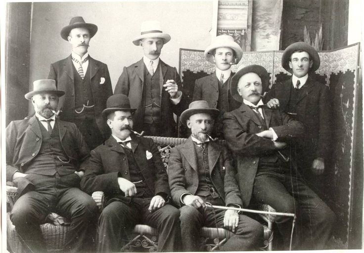 Prominent Citzens - photograph from manuscript  Cuthills' History of Traralgon