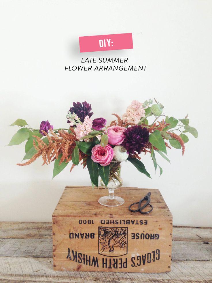 DIY Late Summer Flower Arrangement | Photography: Wild Folk - wildfolkstudio.com/  Read More: http://www.stylemepretty.com/living/2014/08/05/diy-late-summer-flower-arrangement/