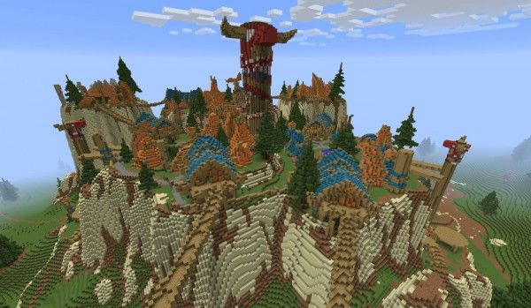 Industrious Minecraft Player Builds a 1:1 Scale World of Warcraft Map