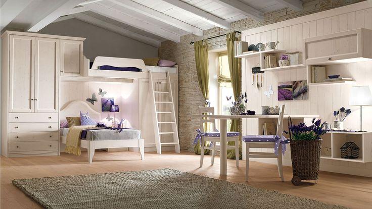 светлая детская комната в стиле кантри