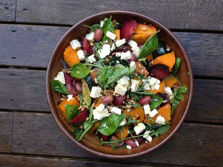 Pumpkin, Beetroot, Feta, Rocket and Pine Nut Salad