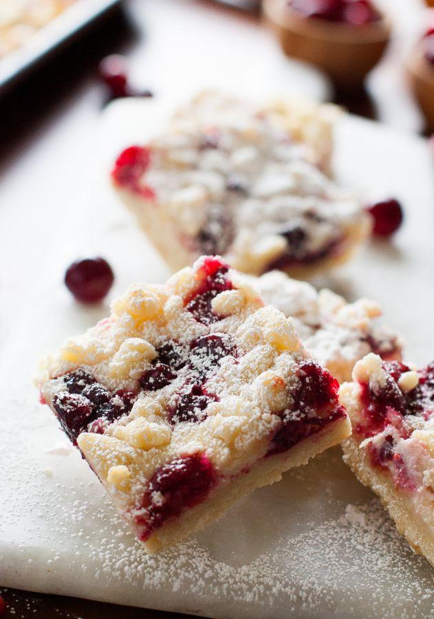 Cranberry Cheesecake Shortbread Crumble Bars | thekitchenmccabe.com