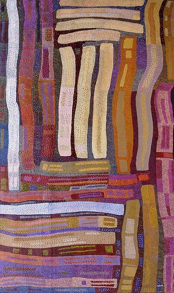 ymutate: artist: Helen Tyalmuty McCarthy: Kanbi (Didgeridoos) source: aboriginalartworld