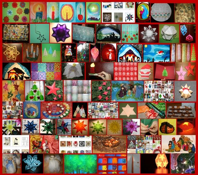 80 e più idee creative proposte sul sito nel corso degli anni: stelle, presepi, angioletti, addobbi natalizi, candele, biglietti d'auguri, carta da regalo, mobiles, lanterne, idee regalo e molto altro ancora...