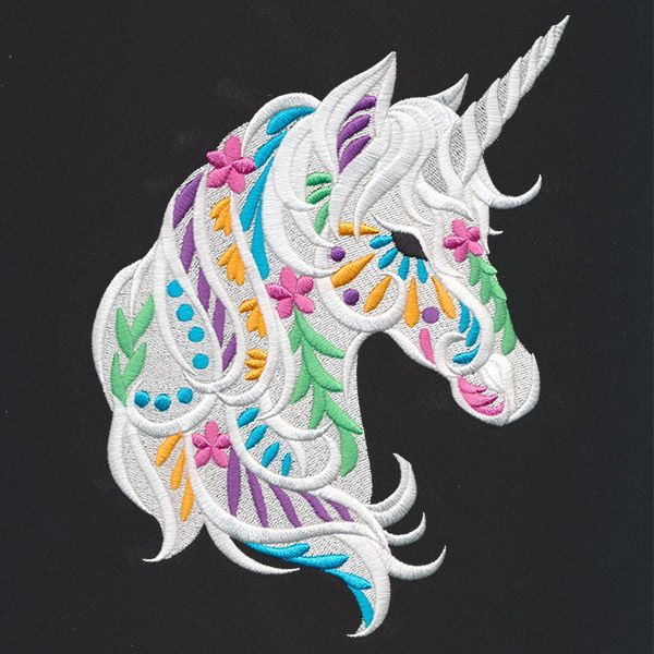 Bohemian Unicorn | Urban Threads: Unique and Awesome Embroidery Designs