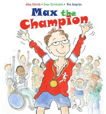 Max is mad about sport.  This is a lively and fun approach to sport, and a very inclusive picture book showing disabled children and children without disabilities mixing and enjoying different sports in a natural way. The sports include football, rugby, athletics, cricket, diving, discus throwing, cycling.