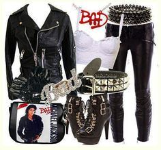 "Female Michael Jackson ""Bad"" outfit."