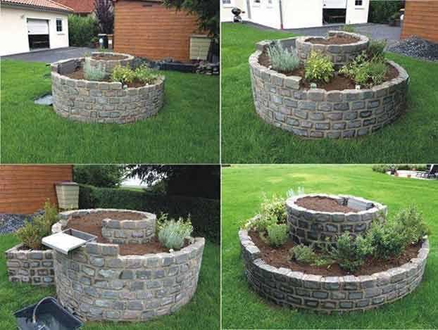 Erbe aromatiche in giardino, costruire una spirale fai da te