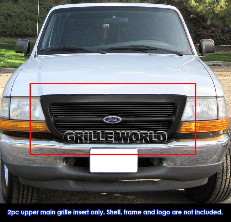 aluminum black billet grille for 1998 2000 ford ranger in grilles ebay - 2000 Ford Ranger Black