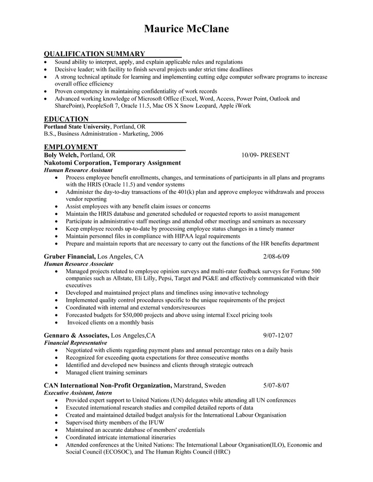 65 best Job Seekers Resumes images on Pinterest Feather, First - how to do a simple resume for a job