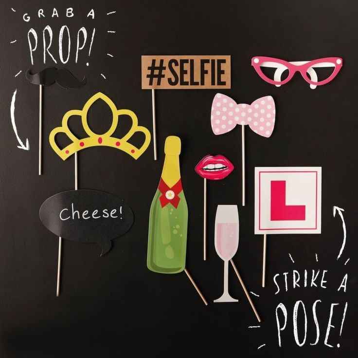 10 HEN PARTY PHOTO BOOTH PROPS KIT HEN NIGHT PARTY GAMES, ACCESSORIES & FAVOURS