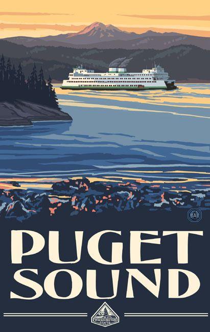 PAL-0420 PSF Puget Sound Ferry - Northwest Art Mall