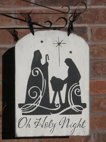 Oh Holy Night $19 (for standing post... or you can use as a door hangar) Post $30