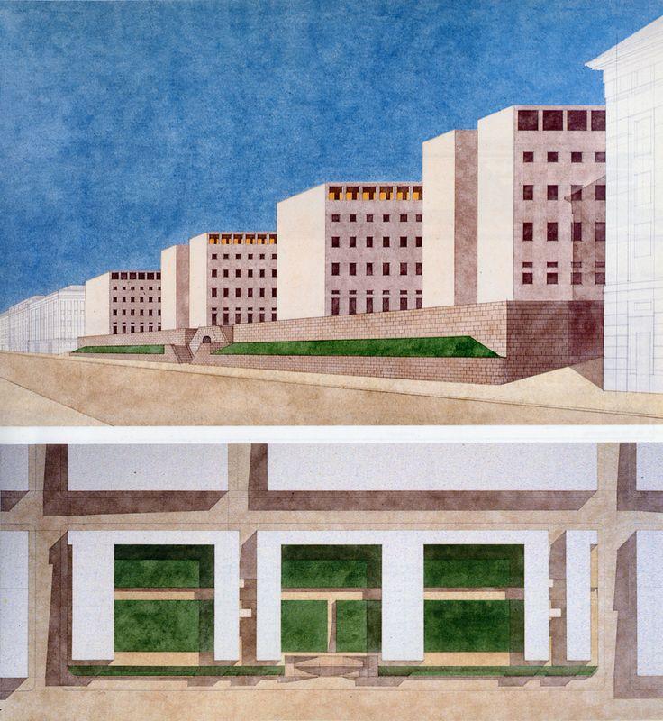 Giorgio Grassi   Oficinas del Gobierno Regional   Trieste, Italia   1974