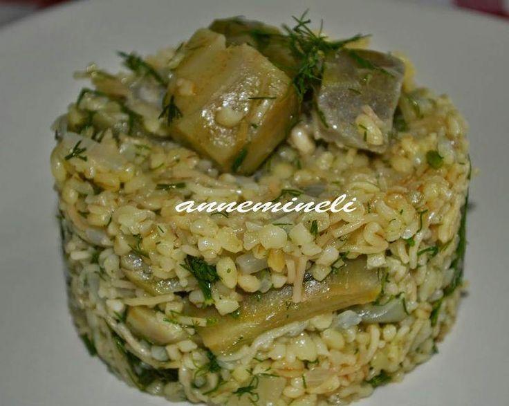 Enginarlı Bulgur Pilavı                        -  Zehra Şener #yemekmutfak
