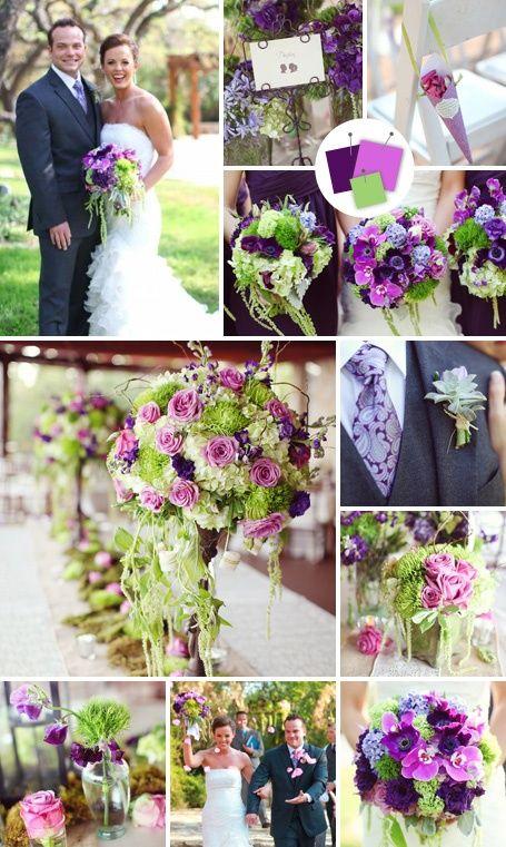 Los colores elegidos para ambientar esta #boda son lila verde y violeta #weddings