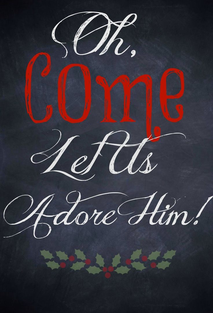 Chalkboard Holiday Printables - Glamorous, Affordable Life