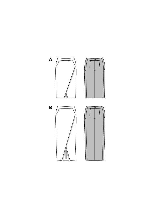 Юбка-карандаш с эффектом запаха