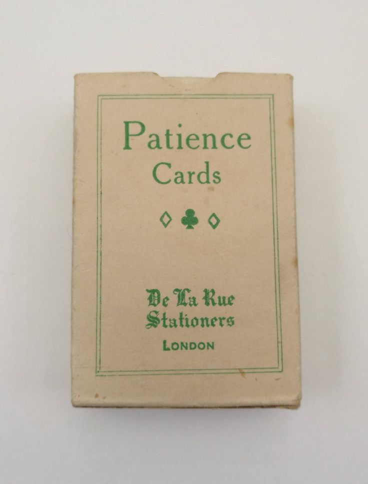 Vintage De La Rue Patience Playing Cards. Vintage De La Rue Miniature Patience Playing Cards - Complete Set Of 52 Plus Joker - Original Box by OnyxCollectables on Etsy