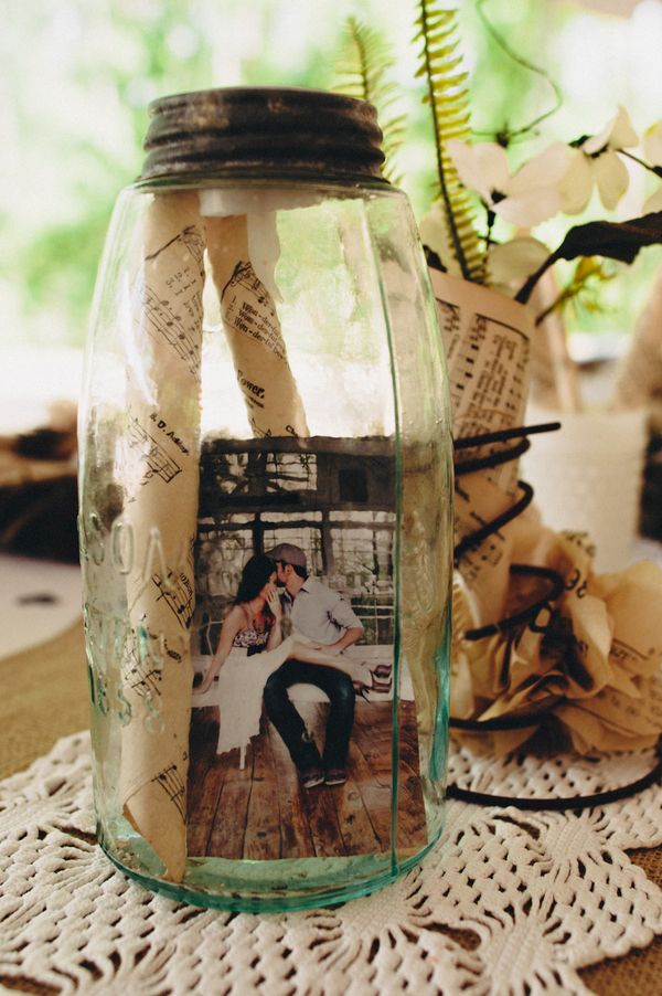 I like the idea of something a little different in with the mason jars and candles...