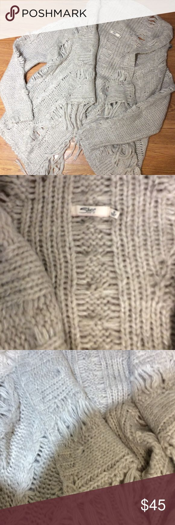 Silver Cardigan Sweater NWT Love this sweater looks great with boots for a night out!  NWT just never got around to wear..Need the Closet Room! Silver Jeans Sweaters Cardigans