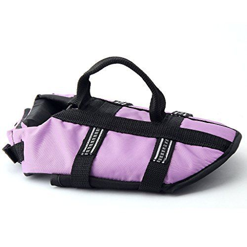 Funkeen Dog Life Jacket Aquatic Pet Safety Preserver Vest with Reflective Tape (Small, Purple) - http://www.thepuppy.org/funkeen-dog-life-jacket-aquatic-pet-safety-preserver-vest-with-reflective-tape-small-purple/