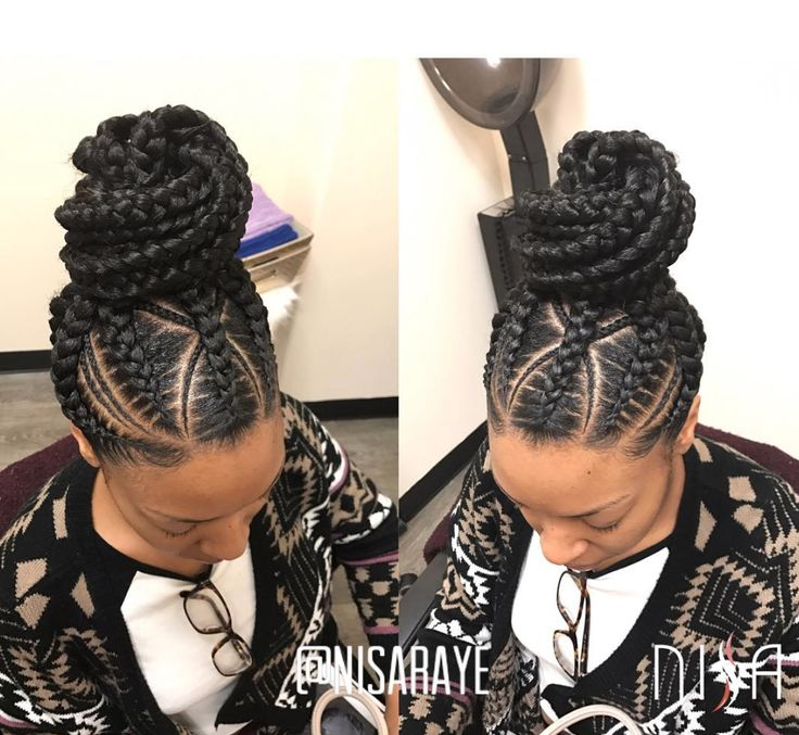 Love this braided up do by @nisaraye - Black Hair Information